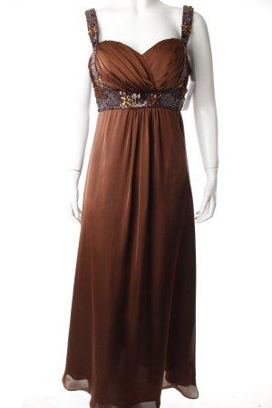 Abendkleid bronzefarben-braun Eleganz-Look