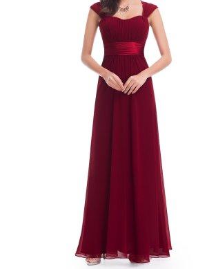 Abendkleid burgund 44