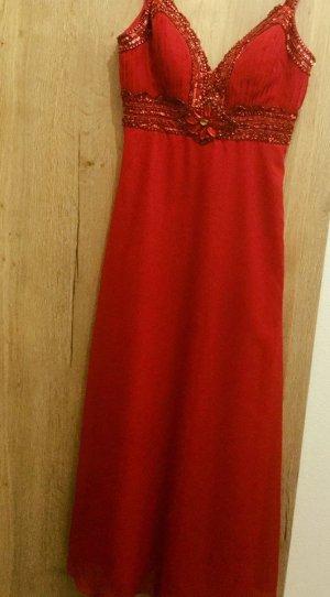 Heine Vestido de noche rojo