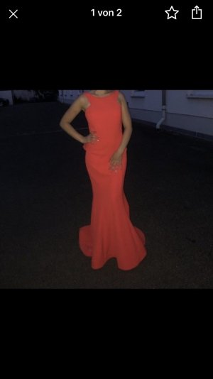 -8- Venice Robe de soirée rouge brique