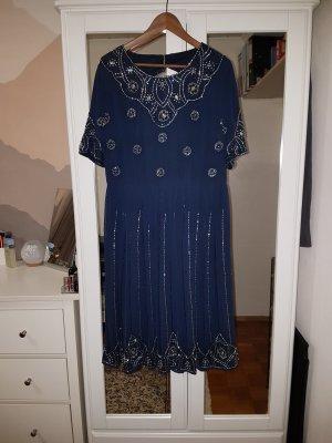 Asos A Line Dress dark blue