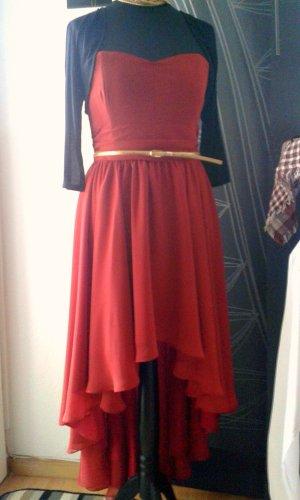 Abendkleid, Cocktailkleid, Abschlusskleid - SWING Gr. 40 - rot - Empire-Kleid - vorne kurz