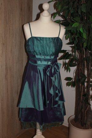Abendkleid Cocktailkleid dunkelgrün festlich Größe S