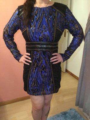 Asos Evening Dress black-blue mixture fibre