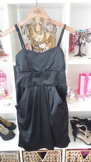 Abendkleid Cocktailkleid schwarz kurz Schleife elegant Figurschmeichelnd