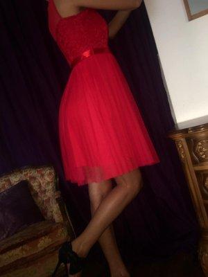 Vestido babydoll rojo Poliéster