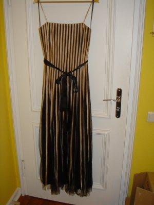 Abendkleid, creme-schwarz, Mariposa, Gr. 40