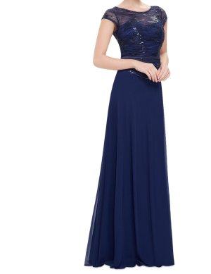 Abendkleid dunkelblau 36