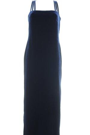 Vestido de noche azul oscuro elegante