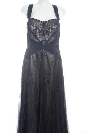Abendkleid dunkelblau-goldfarben Elegant