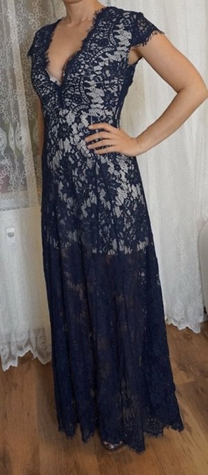 Abendkleid, dunkelblau, Gr. S