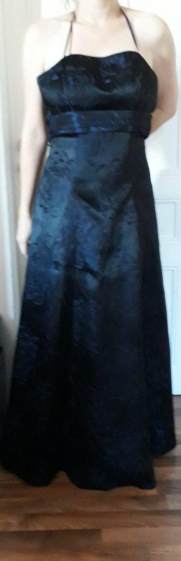 Abendkleid dunkelblau lang