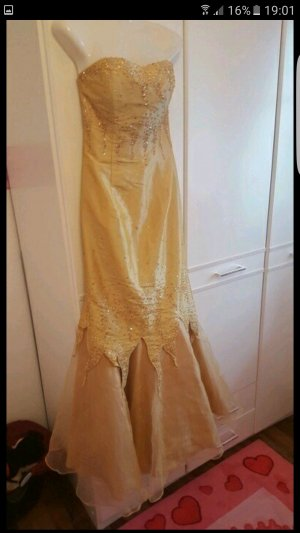 Abendkleid elegant gold