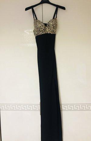 Versace Abito da sera nero-argento Lycra