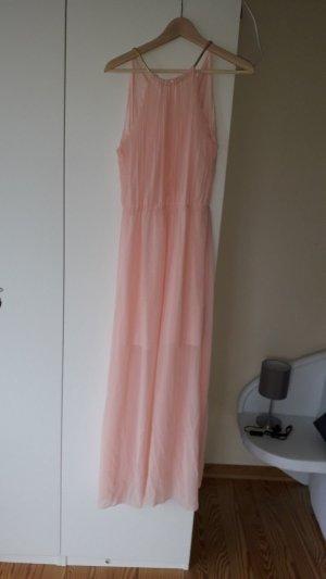 Robe trapèze rose clair polyester