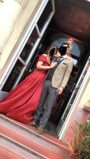 Abendkleid Galakleid rot Henna-Kleid Tarik Ediz