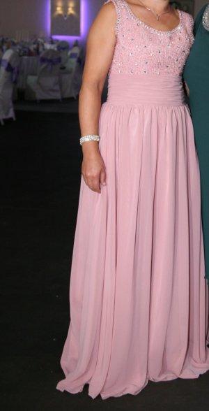 Robe de soirée rose-argenté