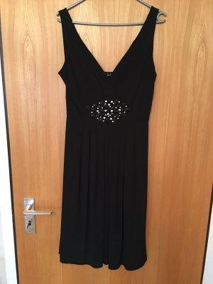 Abendkleid Gr. 38 schwarz mit Strass
