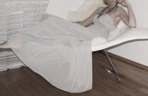 Abendkleid grau 32 1x getragen
