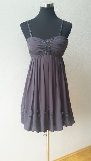 Abendkleid Grau Glitzer Laona Größe XS