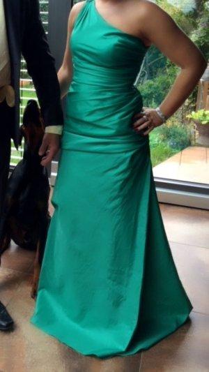 Abendkleid grün seitlich