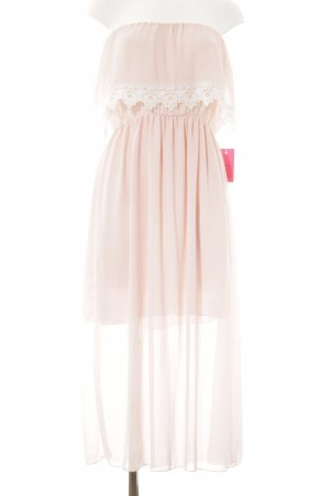 Abendkleid hellrosa-weiß Elegant