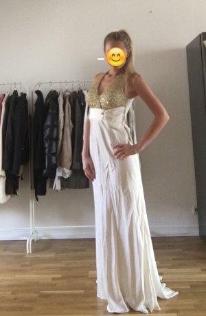 Abendkleid Hochzeitskleid Champagner ivory Grösse S