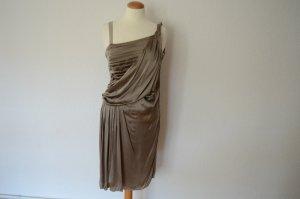 Abendkleid im römischen Stil taupe champagner Kleid