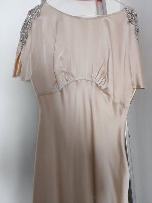 Ariella Vestido de noche color oro