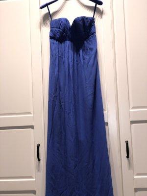 Abendkleid in blau aus Seide