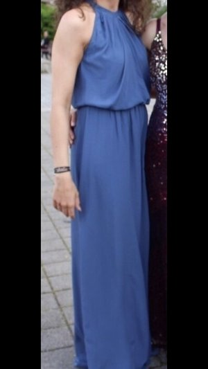 Abendkleid in blau in Gr. 34/36