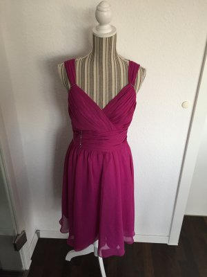Cocktail Dress violet-magenta polyester
