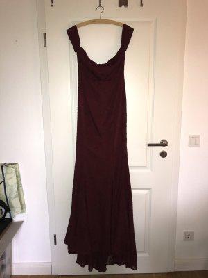 Abendkleid in dunkelrot zu verkaufen