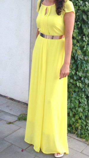 Abendkleid in Gelb, Grösse S, nur 1x getragen, neuwertig