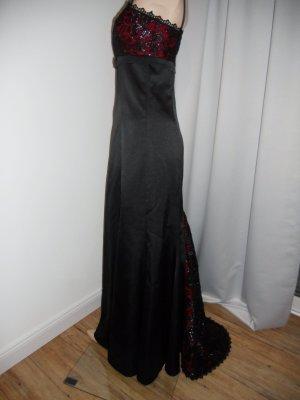 Abendkleid in Gr. 36, schwarz mit Schleppe von Apart.