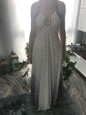 Abendkleid in Gr 40 in weiß-schwarz