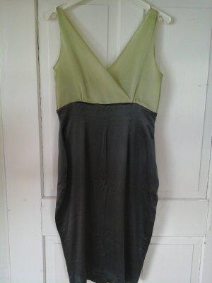 Abendkleid in grau und leichtem Grün - Reißverschluss defekt!