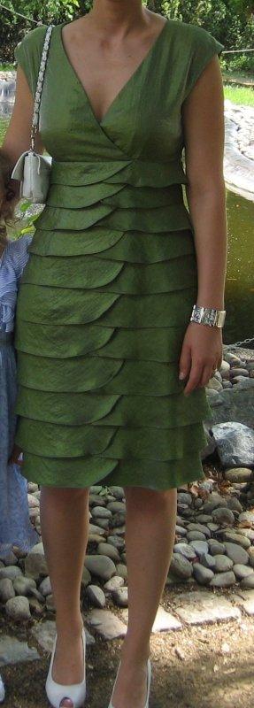 Abendkleid in hellgrün / Größe 38