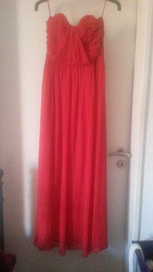 Abendkleid in rot. ein mal getragen