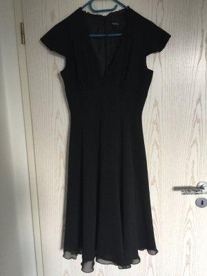 Swing Vestido de chifón negro
