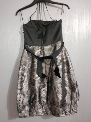 Abendkleid in schwarz/grau