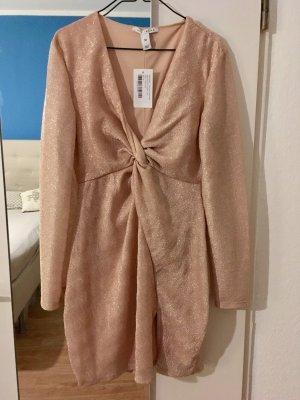 Abendkleid Kleid Gr.M von NELLY NEU mit Etikett! Beige mit Glitzer