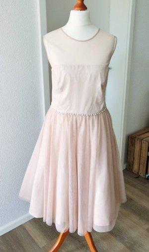 Abendkleid Kleid von Young Couture Gr. L 40 rosa Tüll