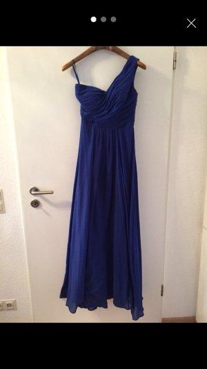 Abendkleid lang blau