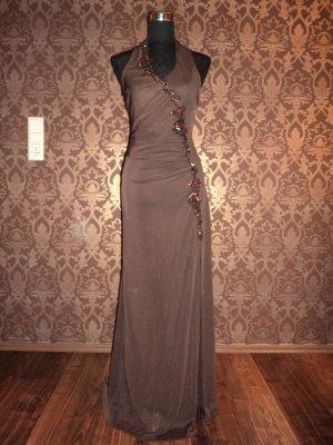 Abendkleid lang, dunkles Braun