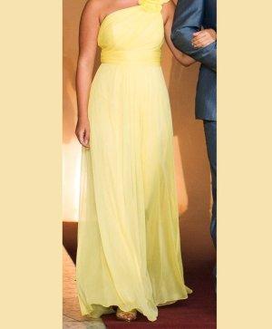 Abendkleid lang Gr. 36 gelb Chiffon