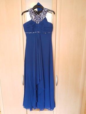 Abendkleid lang Gr. 36 sax blau