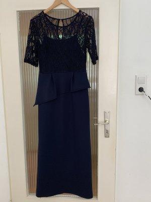 Abendkleid lang in blau