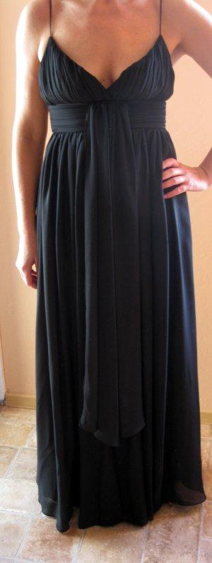 Abendkleid lang Plissee schwarz wie NEU