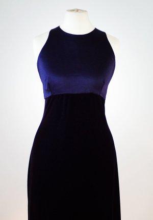 Abendkleid, Lila - Blau, lang, Satin - Samt von C&A, Grösse 38